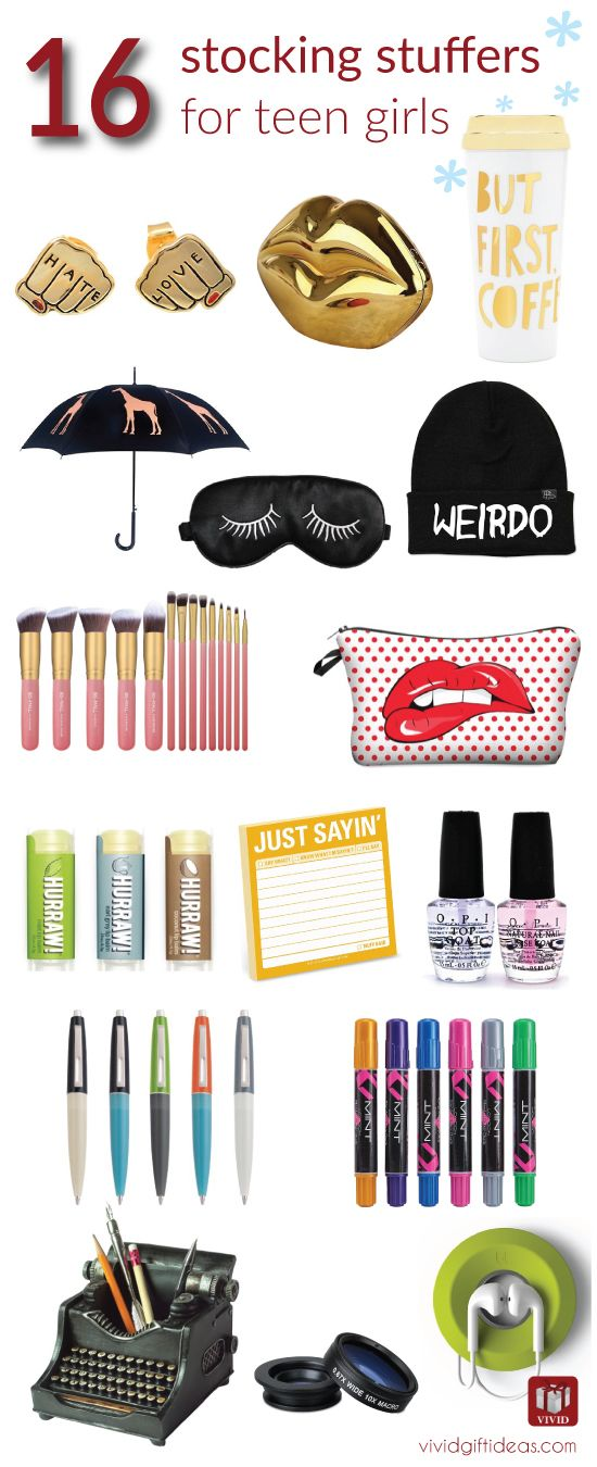Best 16 Stocking Stuffers for Teen Girls. Awesome, cute, quirky ideas. Fill Christmas with more fun!