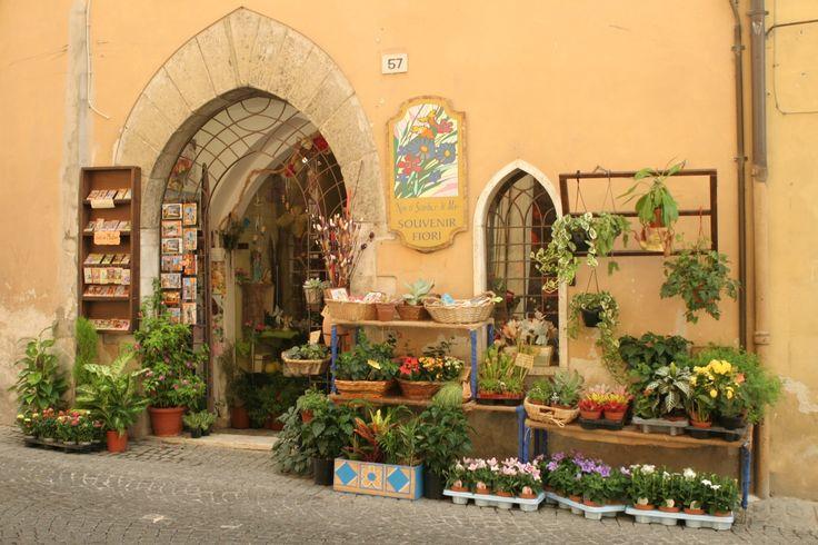Doorway to floral shop, Cannara