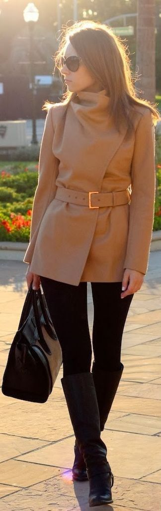 A wrap-around belted coat is a fabulous solution to all your winter jacket dilemmas! Perfect for layering over a casual outfit or cocktail dress, this is a cooler-weather must.
