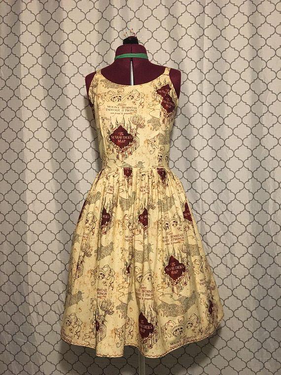 Marauders Map Dress Marauders' Map dress   tinyglittermonster   Dresses, Marauders map