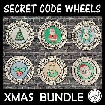 This is a bundle of secret code wheels that have a Christmas Theme. There are 6 different types of code wheels: * Alphabet and alphabet (ordered a-z) * Alphabet and alphabet (jumbled) * Alphabet and number (ordered 1-26) * Alphabet and number (jumbled) *