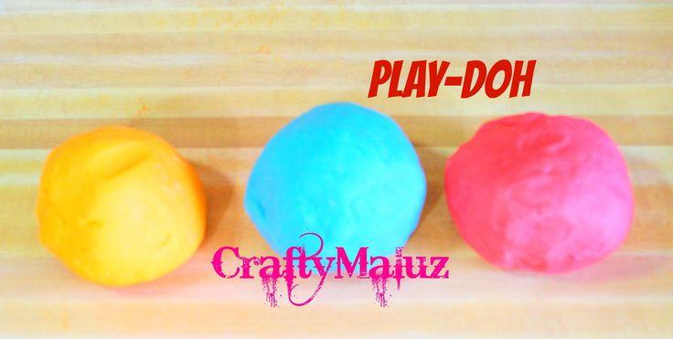 Como Hacer PLAY-DOH o PLASTILINA  fácil Y Rapido