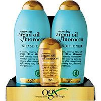 My newest excitement in feeding my naturally curly locks. | OGX - Renewing Moroccan Argan Oil 3 Pc Set in  #ultabeauty