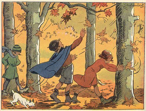 """""""Mon premier livre de français"""" (1940) illustré par Raylambert"""