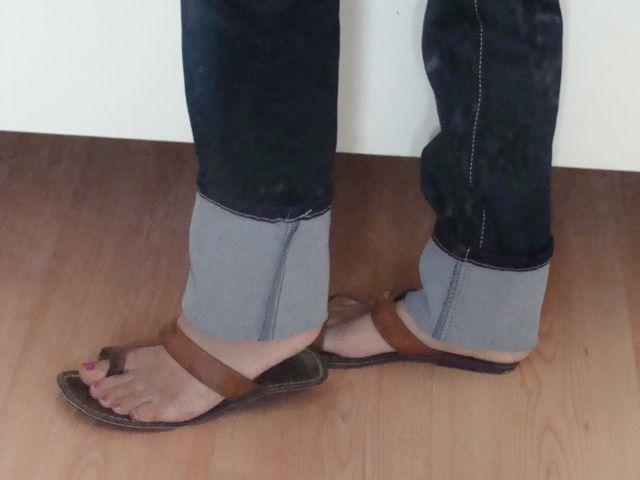 spijkerbroek inkorten en de originele rand behouden | Maak iets moois