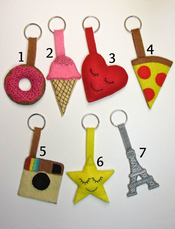 Llavero de fieltro - Felt key holder