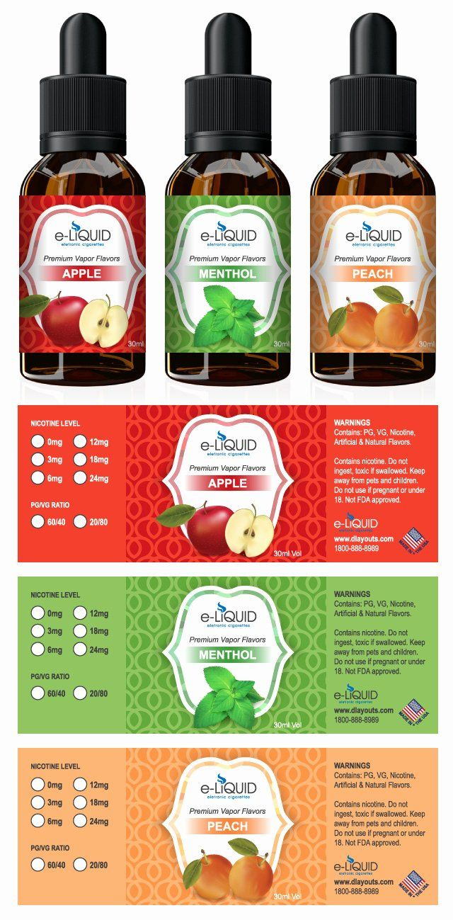 Pin On Examples Templates For Rectangle Labels E juice bottle label template