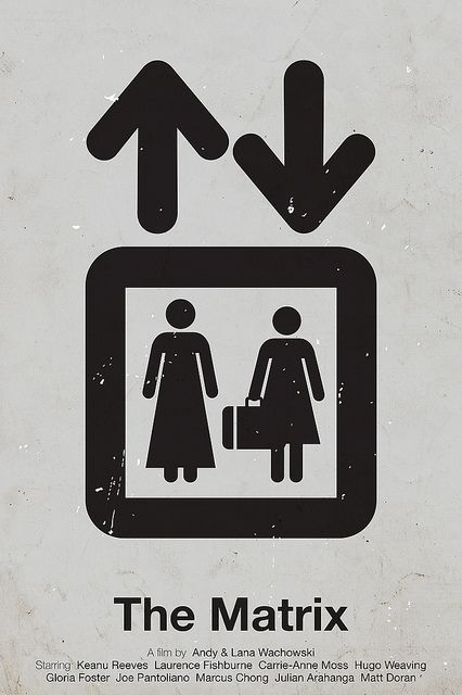 'The Matrix' pictogram movie poster
