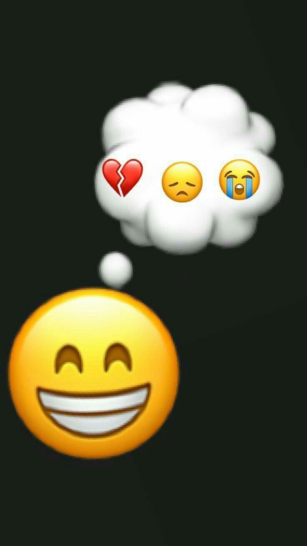 Un Sourire Ne Veux Pas Dire Heureux Fond D Ecran Telephone Papiers Peints Mignons Emoji Mignon