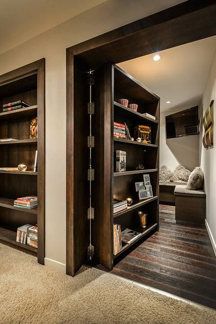This Bookcase Reveals A Secret Lounge Room Would You