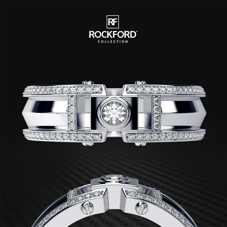 Luxury is the way of life.  CLEBURNE Men's Diamond Ring by Rockford Collection  SHOP at www.rockfordcollection.com  Worldwide Shipping