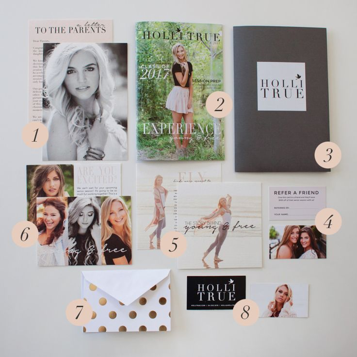 Holli True gorgeous Senior Client Welcome Packet for senior photography