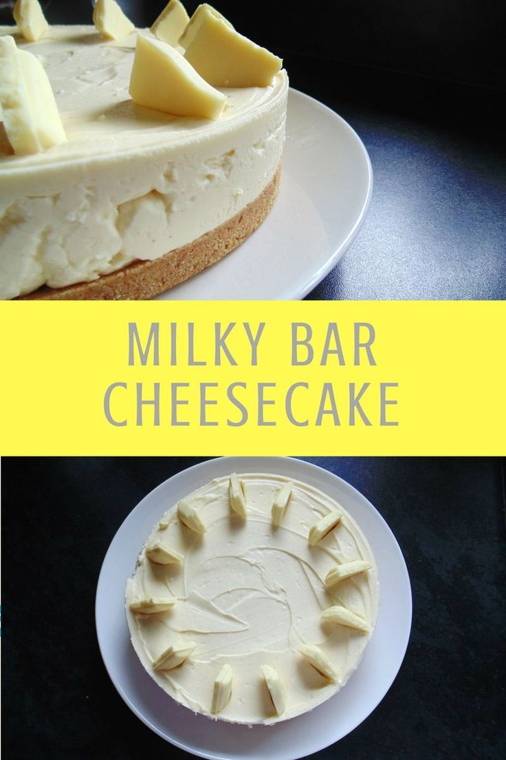 Dreamily sweet and smooth Milky Bar Cheesecake, the ultimate white chocolate…