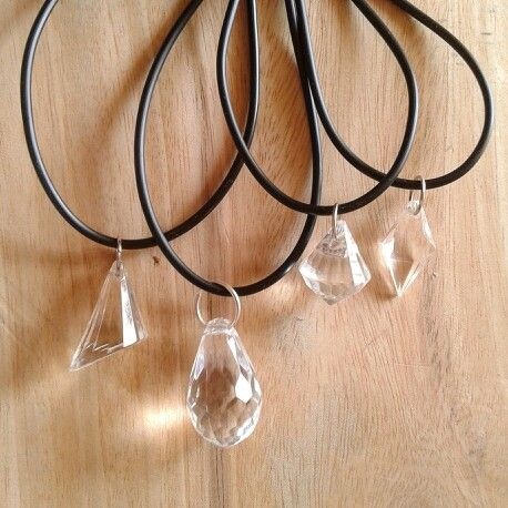 Faux clear crystal necklace