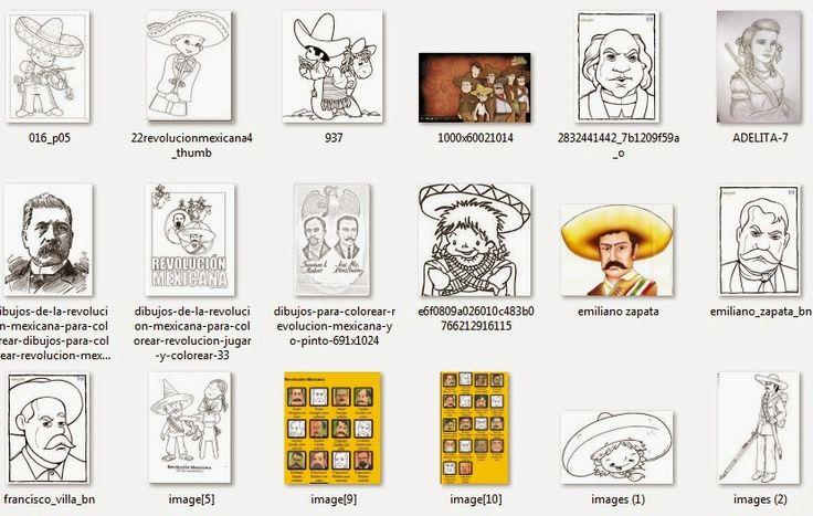 aLeXduv3: Imágenes para el 20 de noviembre (Revolución Mexicana) para colorear