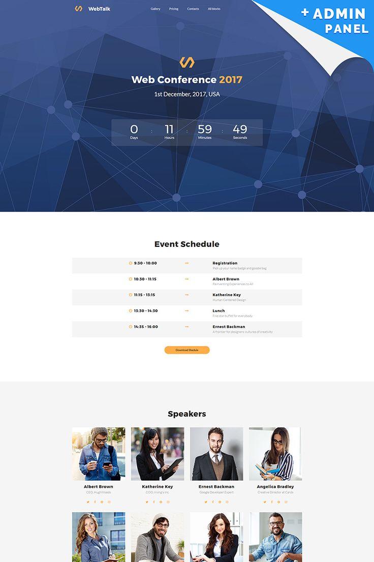 Web Talk - Conference MotoCMS 3 Landing Page Template #65032