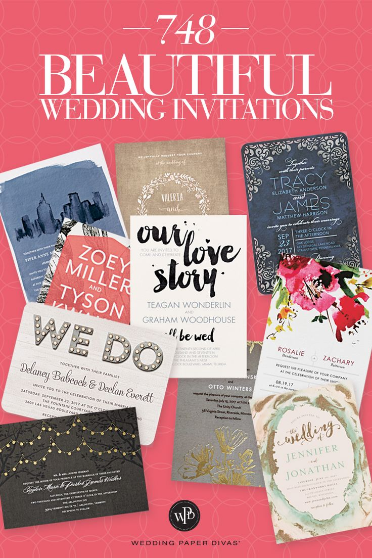 Wedding Invitations by Style and Color at