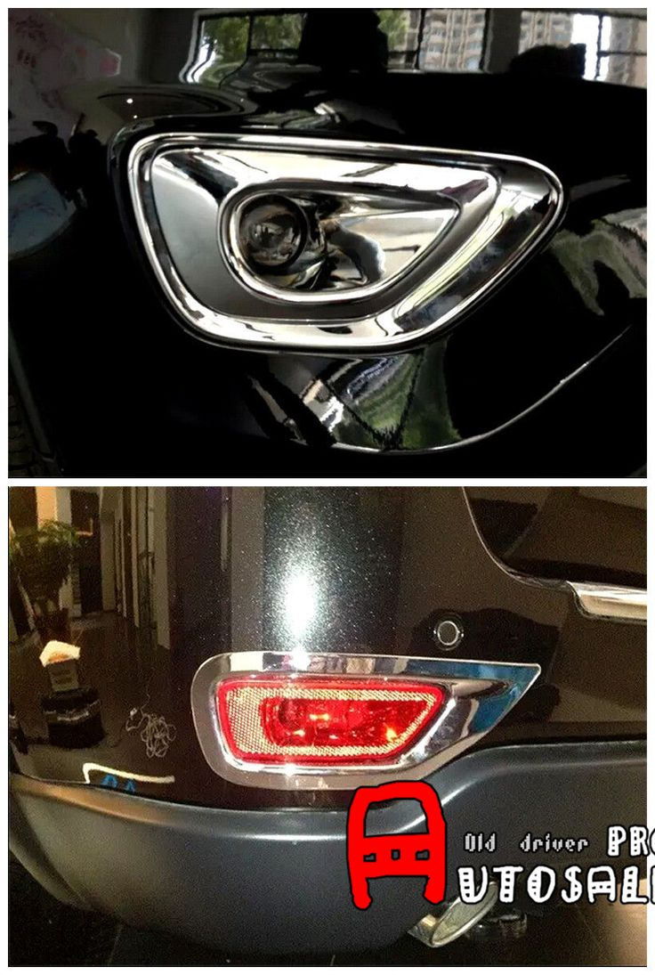 The High Quality Chrome Front + Rear Fog Light Cover Trim 4pcs for Jeep Grand Cherokee 2011 2012 2013