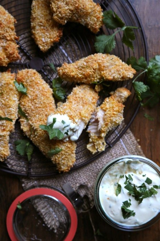 Jalapeno Cheddar Baked Chicken Strips - www.countrycleaver.com