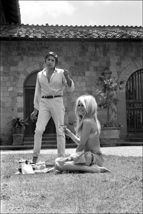 Brigitte Bardot and Gunther Sachs at home in Rome, Italy in 1967; 15 celebrities in their homes