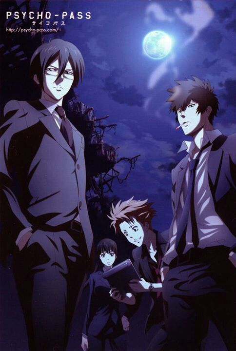 Psycho Pass! One of the better detective shows... Mostly because it's set in the future and there's actually interesting stuff in it. Events actually take place every episode (lookin at you Death Note)