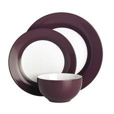 Wilko Colourplay Dinner Set Purple 12 Piece
