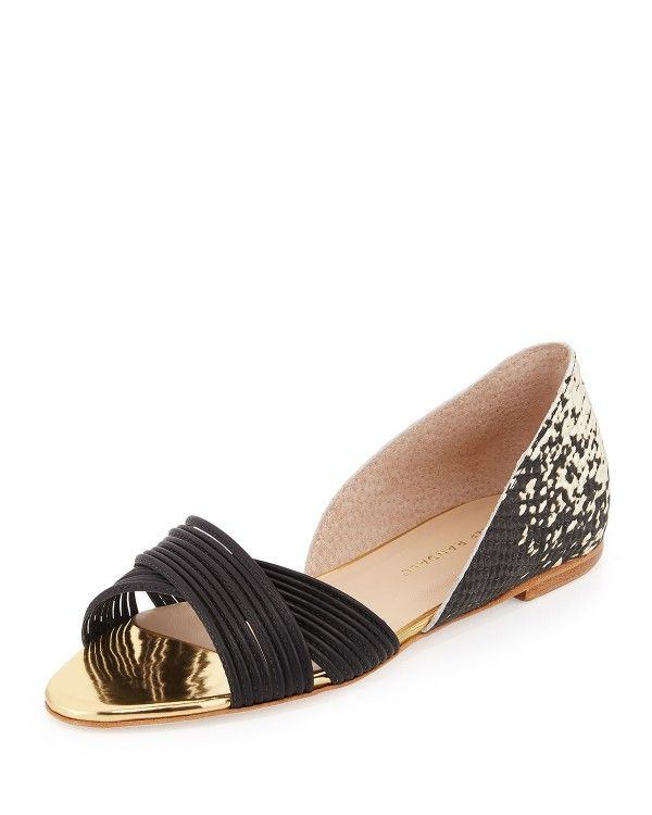 Loeffler Randall Woman Pearl Lace-up Embellished Leather Ballet Flats Black Size 9.5 Loeffler Randall i03pKOp