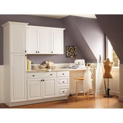 22 best master bathroom center cabinets images on for Hampton bay white kitchen cabinets