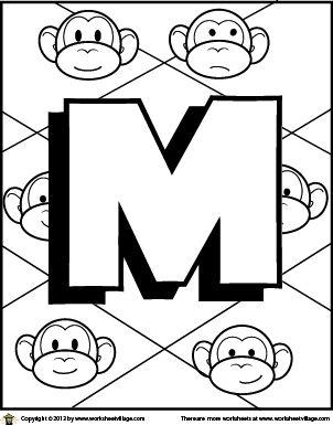 Color the Letter M