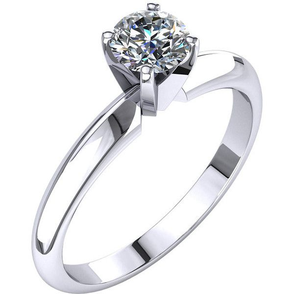 Certified Classic Four Prong Solitaire 1/2Ct. #Diamond #Engagement #Ring