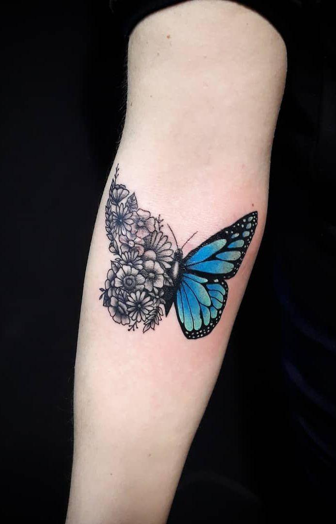 Girly Butterfly Tattoo : girly, butterfly, tattoo, Beautiful, Butterfly, Tattoo, Designs, Charm, Designs,, Tattoos, Women,, Meaning