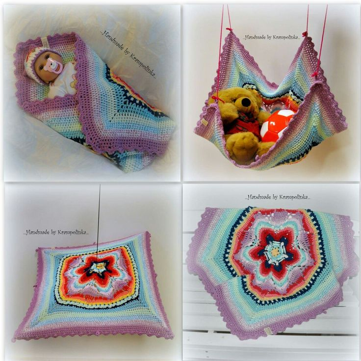 Crochet mandala baby  blanket   wrap shade and hanging spare room for toys