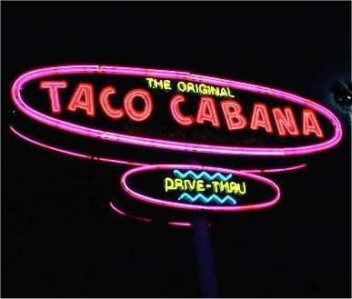 """Taco Cabana, aka T.C.'s, was founded in 1978 and opened its first restaurant at the corner of San Pedro and Hildebrand Midtown San Antonio. The open air design of the existing structure led to the """"patio cafe"""" concept that defined the chain's subsequent locations.  The restaurant, which focuses on fresh foods rather than pre-packaged, pre-prepared foods and serves beer and margaritas, quickly became successful."""
