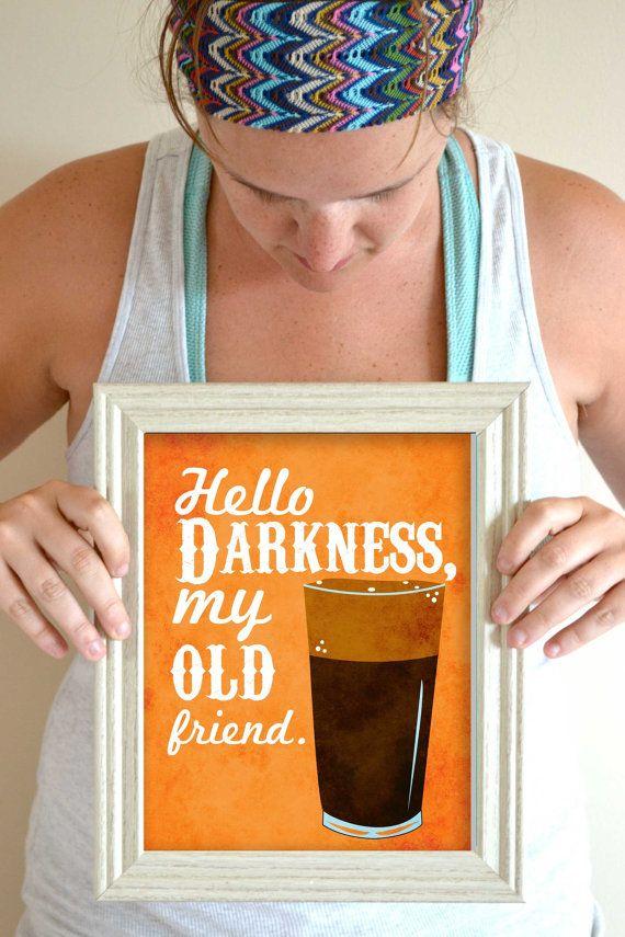 Funny Kitchen Art Print, Beer Poster, Beer Wall Art, Beer Decor, Beer Art Print, Beer Quote 8 x 10 on Etsy, $20.00