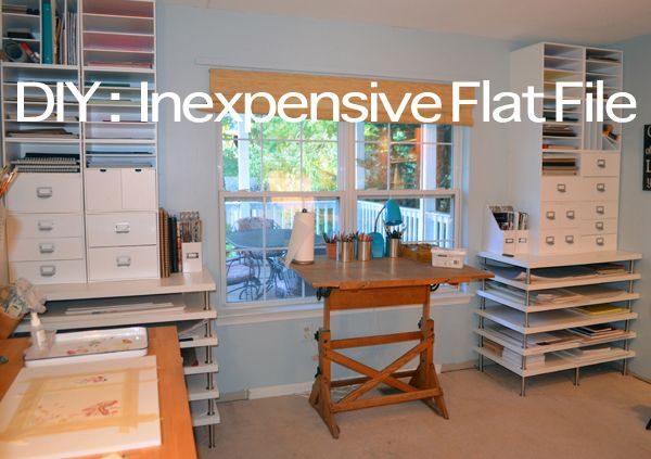 Diy Flat File For Artists Joanne Grant Art Art Studio Organization Art Studio At Home Art Studios