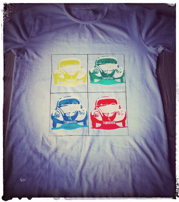 Volkswagen beetle popart t-shirt