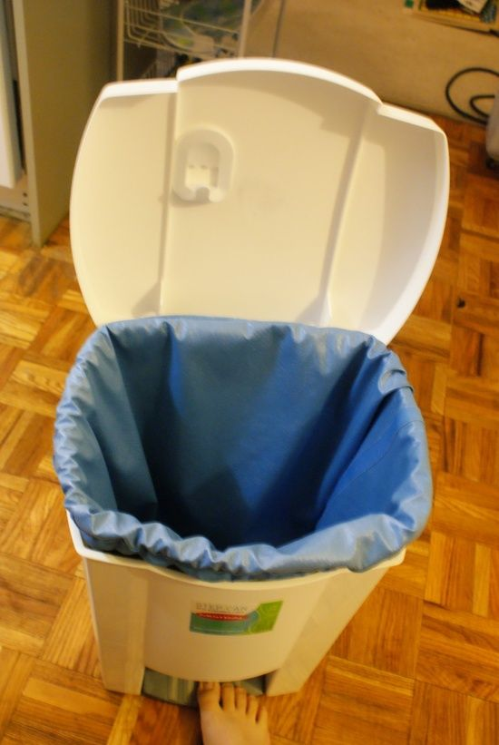DIY Cloth Diaper Pail - could be made with #Babyville pul fabrics.
