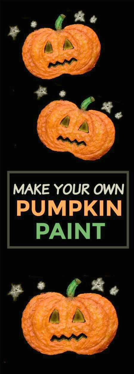 PUMPKIN PUFFY PAINT only 3 ingredients!  (Dries puffy & raised)