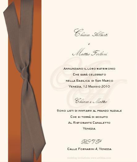 Partecipazioni di nozze - design 1
