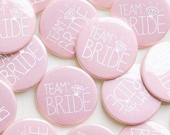 5 x roze duivin partij Badges Team bruid / kip nacht door MakeLoops