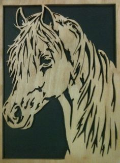 Free Horse Scroll Saw Patterns   Horse Scrollsaw Fretwork Portrait Cutting   Mike Fehrings Artistry In ...