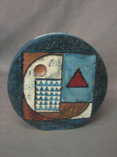 Round Vase Troika Pottery of Cornwall.