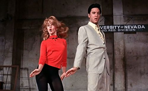 Ann Margret and Elvis Presley - Viva Las Vegas GIF