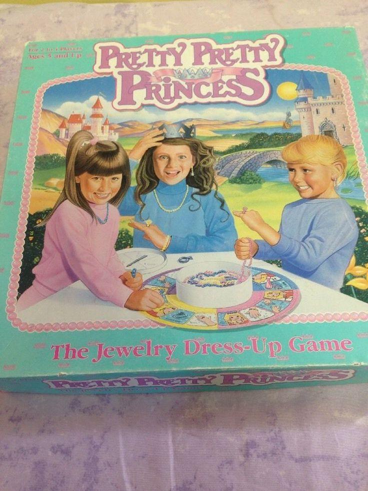 Pretty Pretty Princess Game 100 Complete Girls Golden Milton Bradley Game | eBay