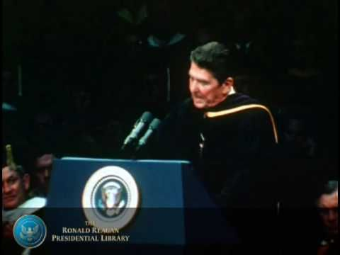 Notre Dame Commencement Address: President Reagans Source of all Strength Speech, 1981 - YouTube
