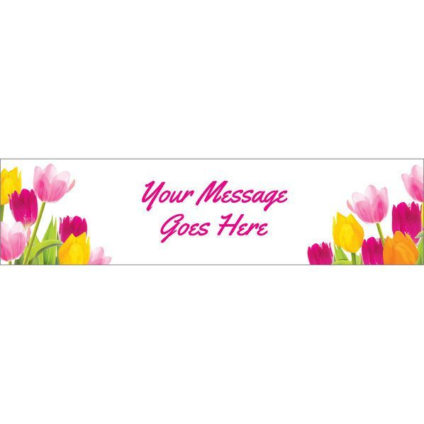 Tulips Personalized Banner (Each) | Spring Party Ideas