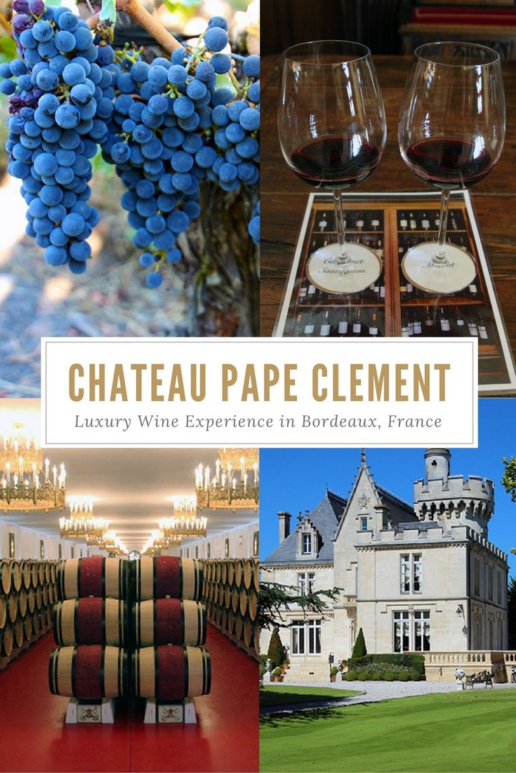 The 5 Senses Luxury Wine Experience at Chateau Pape Clement, Bordeaux, France