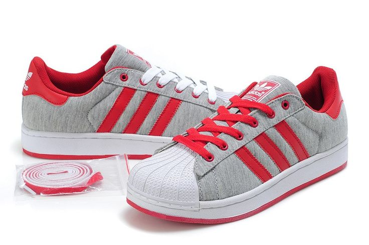 adidas superstar 2 g17252 grey red trainers