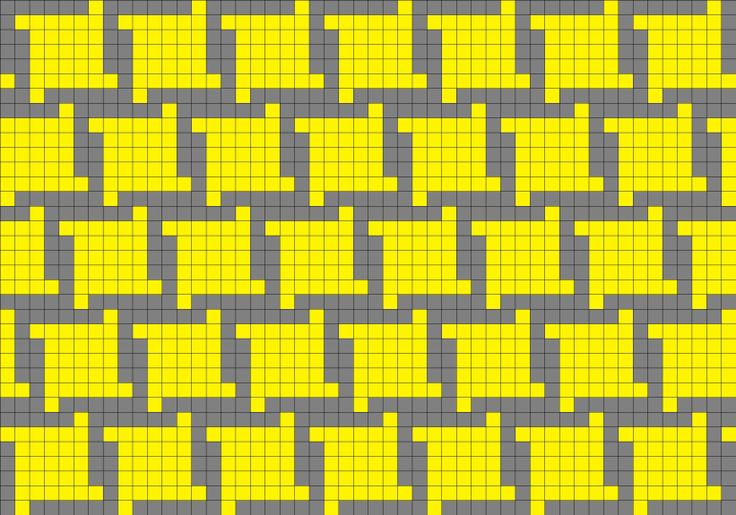 Houndstooth fair isle pattern