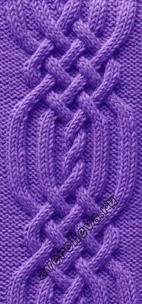 коса из 34 петель   каталог вязаных спицами узоров